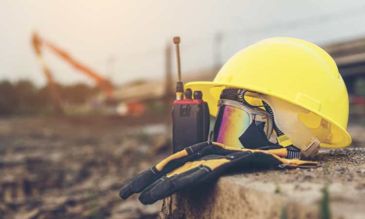 Image of hard hat for health and safety